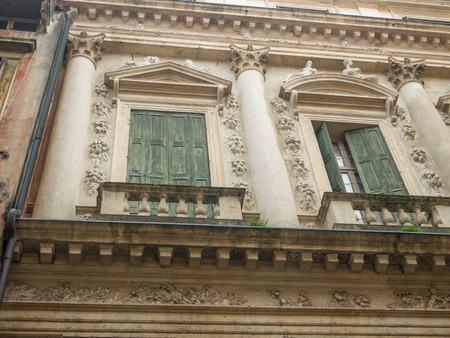 balustrade: Italianate balcony with balustrade Stock Photo