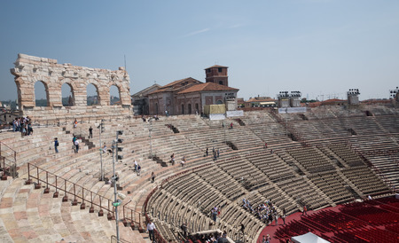 Inside the arena of Verona