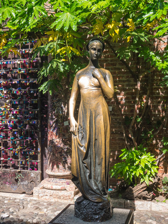 Statue of Juliet in Verona made famous by Shakespeares play Rome and Juliet photo