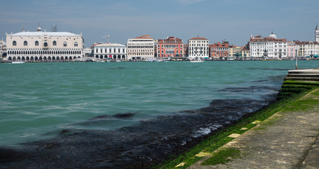 doge's palace: View on Doges Palace on Saint Marks square in Venice from Isola San Giorgio Maggiore Stock Photo