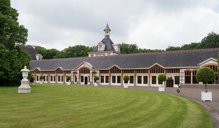 family owned: Coachhouse at palace Het Loo, one of the palaces still owned by the Dutch royal family. Editorial