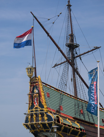 constrution: Replica of Batavia, the Dutch East Indies Company historic cargo ship