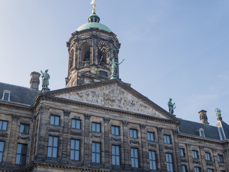dam square: Royal Palace on Dam Square in Amsterdam is the location where the abdication of Queen Beatrix took place in 2013 Editorial