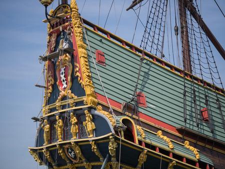 Replica of Batavia, the Dutch East Indies Company historic cargo ship