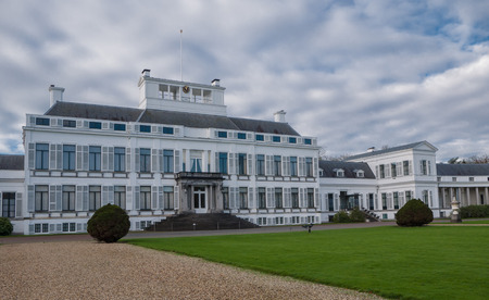 Front facade of Soestdijk Palace, the former residency of the late Queen Juliana of the Netherlands Editorial