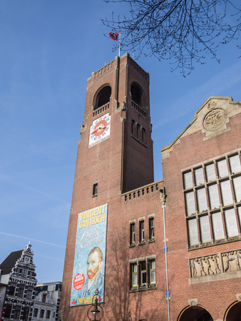 echange: Beurs van Berlage, the former stock exchange building in the city of  Amsterdam is now a monument housing art exhibitions