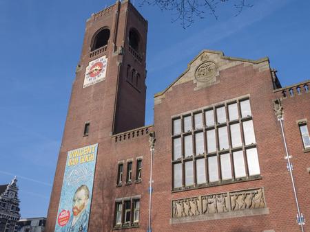Beurs van Berlage, l'ancien bâtiment de la bourse dans la ville d'Amsterdam est maintenant un boîtier de monument expositions d'art Banque d'images - 25940013