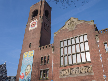 Beurs van Berlage, the former stock exchange building in the city of  Amsterdam is now a monument housing art exhibitions