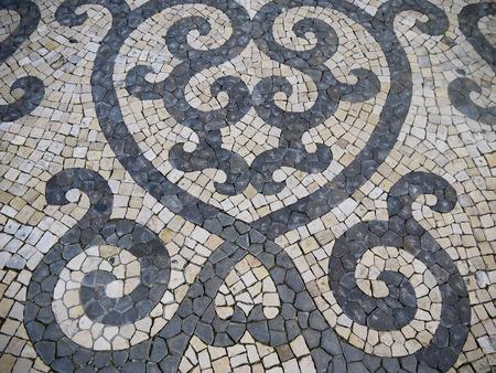 Typical Portuguese mosaic pavement photo