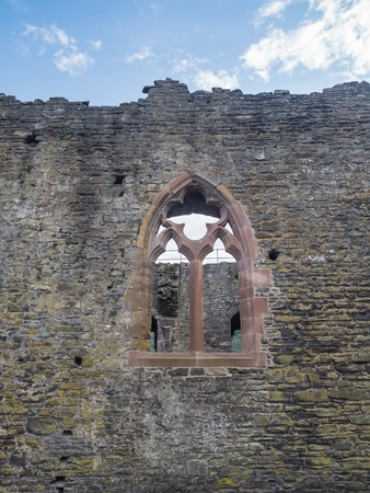 king edward: Window in one of the inside walls of massive Conwy Castle in Wales built by king Edward I as one of the fortifications during the conquest of Wales in the 13th Century