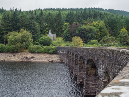 hydroelectricity: One of the reservoirs in the Elan Valley in Wales, UK Stock Photo
