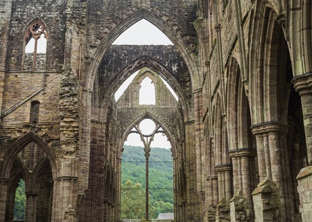 cistercian: Ruins of Tintern Abbey, a former cistercian church from the 12th Stock Photo
