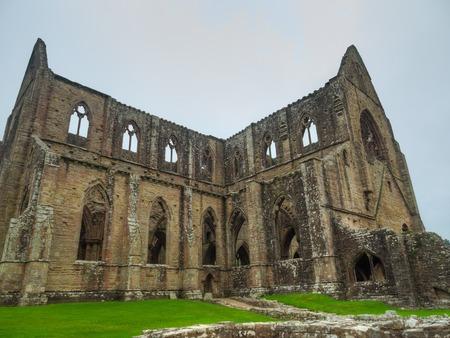 Ruins of Tintern Abbey, a former church in Wales
