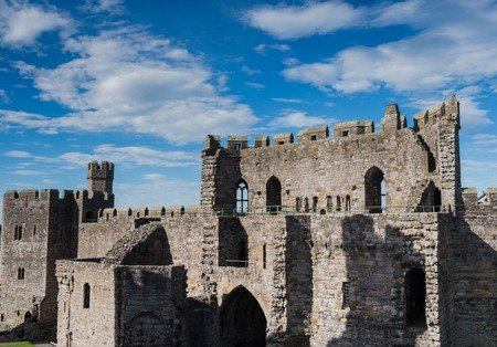 norman castle: Caernarfon Castle, North Wales