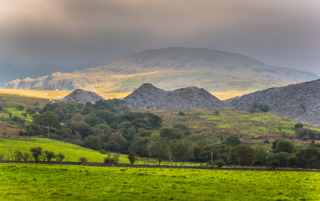 snowdonia: Rain clouds over Snowdonia