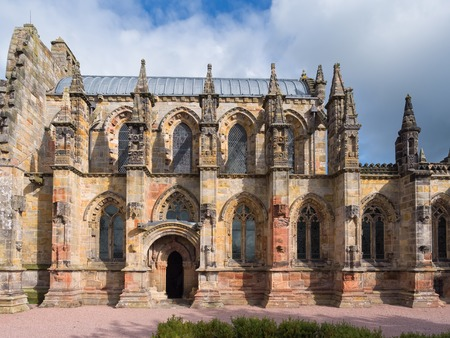 Ornate Rosslyn chapel in Scotland, made famous by Dan Browns Da Vinci Code Imagens