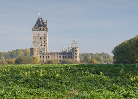 almere: The abandoned and unfinished castle of Almere, which will be transformed into a theme park which opens in 2019