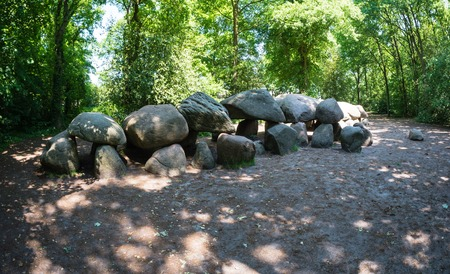chambered: Largest prehistoric dolmen, also called a hunebed, in The Netherlands