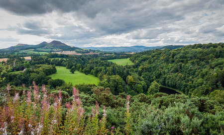 sir walter scott: Scotts View in the Scottish Borders named after Sir Walter Scotts favorite place