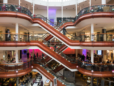 princes street: Princes Square shopping mall in Glasgow. Editorial