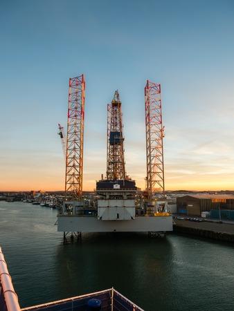 ijmuiden: Oil rig Paragon C463 in the port of IJmuiden