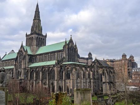 glasgow: Exterior of Glasgow Cathedral Stock Photo