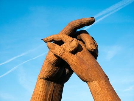 blacksmith: Clasping hands at Gretna Green