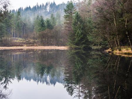 Lake in Galloway park, Scotland