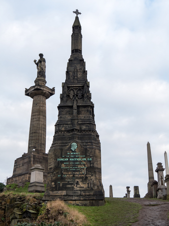 Tombstones at Necropolis, Glasgow