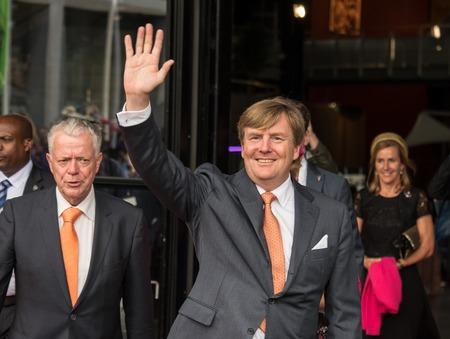 orange nassau: King Willem-Alexander of the Netherlands