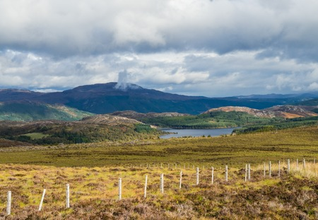 View on Great Glen or Glen More in the Scottish Highland near Loch Ness