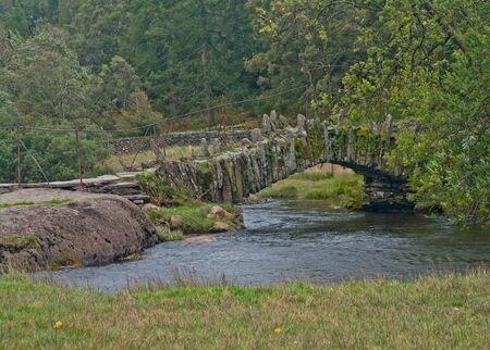 Slater Bridge near Little Langdale in Lake District, UK Stock Photo