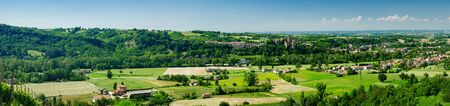Landscape of the Italian Emilia-Romagna region near Vigoleno in late spring