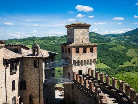 Medieval fortress Vigoleno near the city of Piacenza in the Emilia-Romagna region in Italy