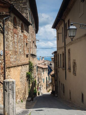 Street in the village of Salsomaggiore, Italy