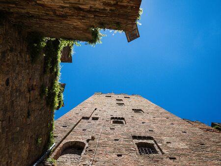 Rocca Viscontea in the town of Castell Arquato, Italy Imagens