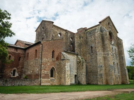 Roofless abbey of San Galgano in Italy