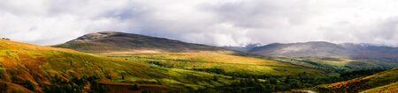 Panoramic view of spectacular Glen Roy near Spean Bridge in the Scottish Highlands in autumn