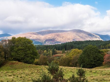 Panorama of Glen Roy in the Highlands of Scotland