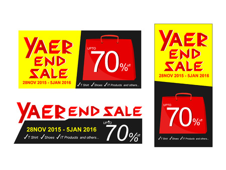 end of year: Year end sale vector