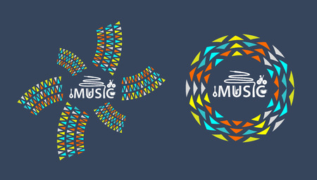 logo music: Music logo festival party with icon Illustration