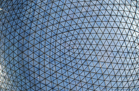 building sector: Glass and metal background