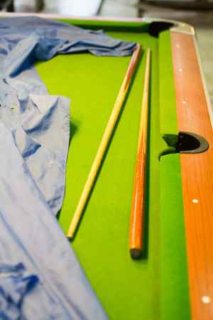 snooker table: Snooker table, wood, old age over 30 years.