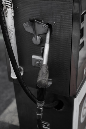 30 years: Fuel nozzle 30 years old. Stock Photo