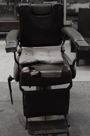 barber chair: 30-year-old barber chair