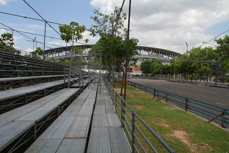 racetrack: The Olded road was used as a racetrack. Stock Photo