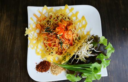 Thailand Tamarind Prawns fried egg.