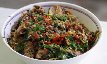 catfish: A Meat catfish for making basil.