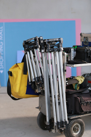 photography backdrop: TripodStand spotlights used in thai stacks.