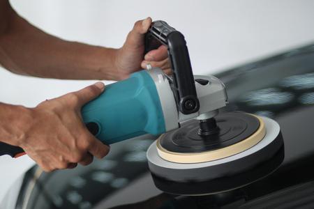 Car abrasion before car wash.